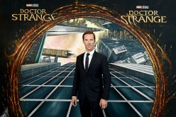 Benedict Cumberbatch in front of the Doctor Strange inspired 3D Art at a fan screening, to celebrate the release of Marvel Studio's Doctor Strange at the Odeon Leicester Square, on Oct. 24, 2016.