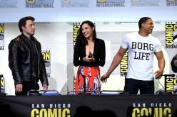 Actors Ben Affleck, Gal Gadot and Ray Fisher attend the Warner Bros. 'Justice League' Presentation during Comic-Con International 2016 at San Diego Convention Center on July 23, 2016 in San Diego, California.