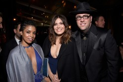 'This is Us' actors Susan Kelechi Watson, Mandy Moore and Chris Sullivan attend The 22nd Annual Critics' Choice Awards after party at Barker Hangar on December 11, 2016 in Santa Monica, California.