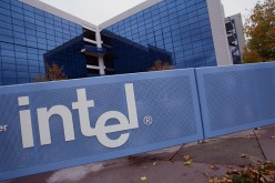 Intel office premises seen with logo
