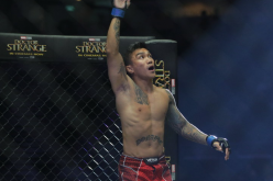 Vaughn Donayre enters the ring before a fight in the ONE Championship MMA promotion.