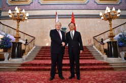 (L-R) British Foreign Secretary Boris Johnson welcomes Chinese State Councillor Yang Jiechi as they meet for the U.K.-China Strategic Dialogue meeting on Dec. 20, 2016 in London, England.