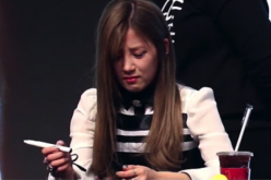 Apink's Chorong was hit by a phone thrown by a fan during a fan meeting in December 2016.