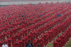 Fifty thousand citizens perform square dance to make a Guinness World Record with dancers in other 13 cities on Nov. 7, 2016, in Zhengzhou, China.