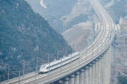 A section of the world's longest high-speed raiway line in China.