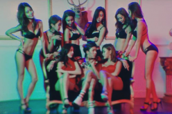 Ravi surrounded by lingerie-clad women in the controversial scene from the MV of his recent release,