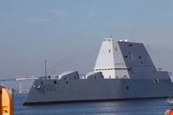 USS Zumwalt docks at Naval Station San  Diego.
