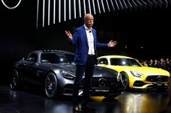 Dieter Zetsche, Chairman of the Board of Directors of Daimler AG and Head of Mercedes-Benz Cars, speaks at the Mercedes-Benz reveal at the 2017 North American Int'l Auto Show on Jan. 9, 2017.