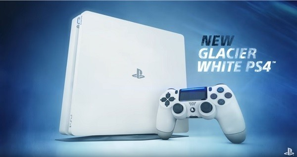 Sony Interactive Entertainment reveals the latest PlayStation 4 Slim Glacier White video console system.