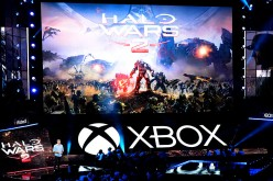 Dan Ayoub, Studio Head at 343 Industries, introduces the video game 'Halo Wars 2' during Microsoft Corp. Xbox at the Galen Center on June 13, 2016 in Los Angeles, California.