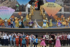 Dancers perform on the stage during opening ceremony at the Shanghai Disney Resort on June 16, 2016 in Shanghai, China.