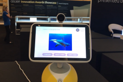 Chinese tech firms have become key figures in the spotlight during CES 2017. Shown here is Baidu's IOT innovation: the Little Fish video talking robot.