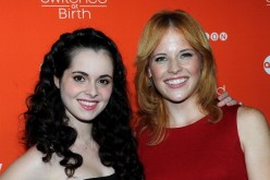 Vanessa Marano and Katie Leclerc arrive at the Fall Premiere Of ABC's 'Switched At Birth' And Book Launch Party at The Redbury Hotel on September 13, 2012 in Hollywood, California.