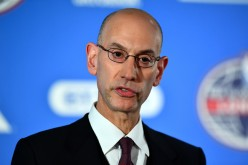 NBA commissioner, Adam Silver speaks during a press conference prior to the NBA match between Indiana Pacers and Denver Nuggets at the O2 Arena on January 12, 2017 in London, England.