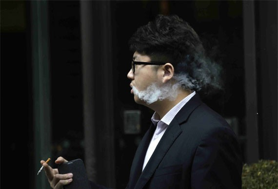 China has one of the biggest populations of smokers in the world.