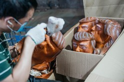 Chinese Factory Produces Donald Trump Masks