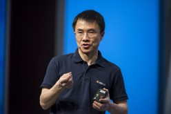 Qi Lu speaks during a keynote session at the Microsoft Developers Build Conference in San Francisco, California, U.S., on Thursday, March 31, 2016.