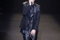 Rapper Beenzino performs on the runway during the RE.D show as part of Seoul Fashion Week A/W 2014 on March 22, 2014, in Seoul, South Korea.