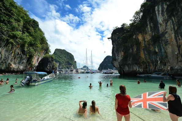 Tourists flock to Thailand for its pristine beaches.