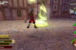 Sora casting the Tornado spell attack in 'Kingdom Hearts HD 2.8 Final Chapter Prologue.'
