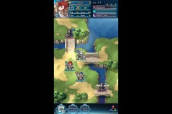A battlefield with opposing armies in 'Fire Emblem Heroes.'
