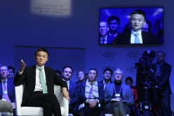 Alibaba's Jack Ma at the World Economic Forum in Davos