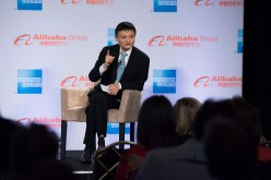 Alibaba's Jack Ma speaks before U.S. small businesses.