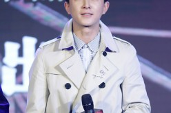 Han Geng attends a press conference in Beijing.