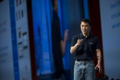 Qi Lu speaks during a keynote session at the Microsoft Developers Build Conference in San Francisco, California.