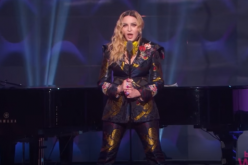 Madonna during her Billboard Woman of the year 2016 award speech