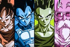 'Dragon Ball Super' characters, Goku, Vegeta, Gohan, and Master Roshi, are displayed as part of the upcoming universal tournament contestants.