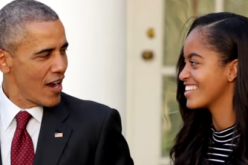 Malia Obama in conversation with Barack Obama