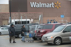 Customers shop at a Walmart store in Skokie, Illinois.