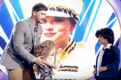 Xia Vigor and Alonzo Muhlach are two of the eight contestants of the first Filipino kiddie version of 'Your Face Sounds Familiar,' which is hosted by Billy Crawford, the International Male Artist of the Year at 2003 NRJ Music Awards.
