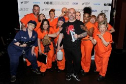 The cast of 'Orange is the New Black' poses backstage at the 61st Annual Obie Awards at Webster Hall on May 23, 2016 in New York City.