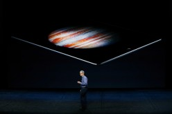 Apple CEO Tim Cook speaks about the iPad Pro during a Special Event at Bill Graham Civic Auditorium September 9, 2015 in San Francisco, California. Apple Inc.
