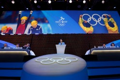 Vice Premier Liu Yandong delivers a speech during Beijing's 2022 Olympic Winter Games bid presentation at the 128th IOC session.