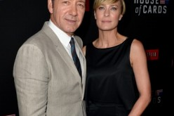 "Executive producer/actor Kevin Spacey and actress Robin Wright arrived at the special screening of Netflix's ""House of Cards"" Season 2 at the Directors Guild Of America on Feb. 13, 2014 in Los Angeles, California."