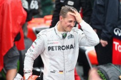 Michael Schumacher of Germany and Mercedes GP reacts in parc ferme after finishing his last F1 race following the Brazilian Formula One Grand Prix at the Autodromo Jose Carlos Pace.