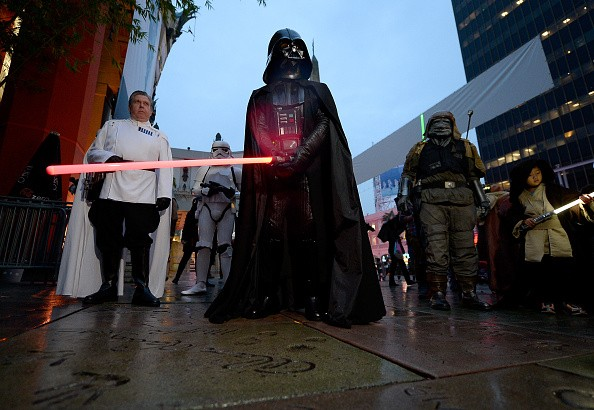 Performers are seen at the Opening Night Celebrations of Walt Disney Pictures and Lucasfilm's 'Rogue One: A Star Wars Story' at The TCL Chinese Theatre on December 15, 2016 in Hollywood, California.