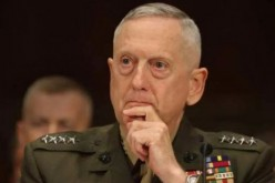 Defense Secretary James Mattis as a general in the U.S. Marines.