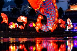 Fish-shaped lanterns are ready to greet the Spring Festival on Gongshui River in Xuanen County, central China's Hubei Province this Jan. 28.