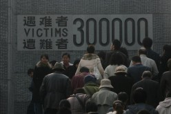 People pay their respects at the Memorial Hall of the Victims in the Nanjing Massacre on Dec. 13, 2007 in Nanjing of Jiangsu Province, China.