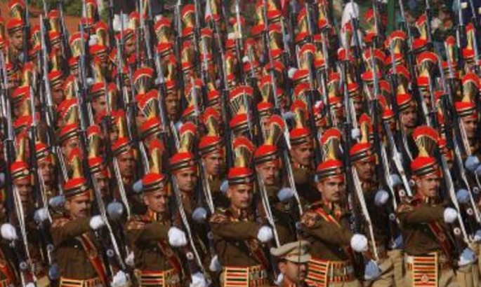 Indian Army soldiers parade at Republic Day 2017.