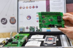 A company displays proposed solutions for Smart Home technologies, the future of residential real estate, during the Internet of Things World conference at the Convention Center in Dublin last year.