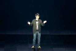 Video game creator Hideo Kojima unveils his new game on stage during the PlayStation E3 2016 Press Conference on June 13, 2016.