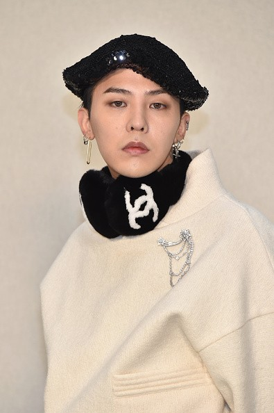G-Dragon attends the Chanel Haute Couture Spring Summer 2017 show as part of Paris Fashion Week on January 24, 2017 in Paris, France.