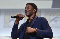 "Actor Chadwick Boseman"" attends the San Diego Comic-Con International 2016 Marvel Panel in Hall H on July 23, 2016."