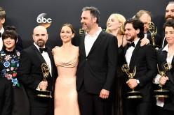 Cast & crew of 'Game of Thrones', winners of Best Drama Series, pose in the press room during the 68th Annual Primetime Emmy Awards at Microsoft Theater on Sept. 18, 2016.