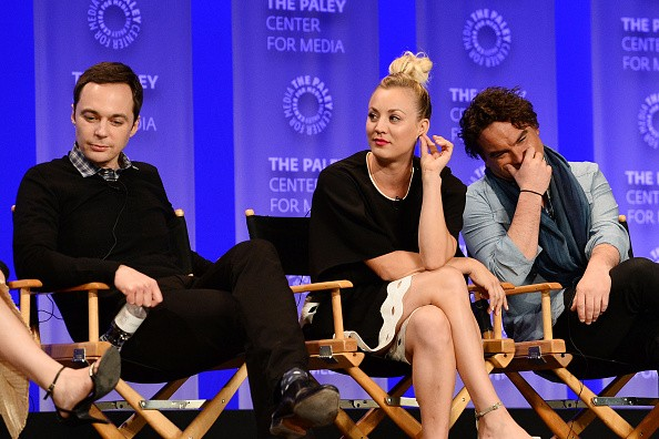 Jim Parsons, Kaley Cuoco, and Johnny Galecki attend The Paley Center For Media's 33rd Annual PALEYFEST Los Angeles 'The Big Bang Theory' held on March 16, 2016.